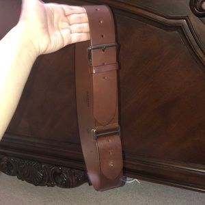Thick Women's Burberry Brown Leather Belt